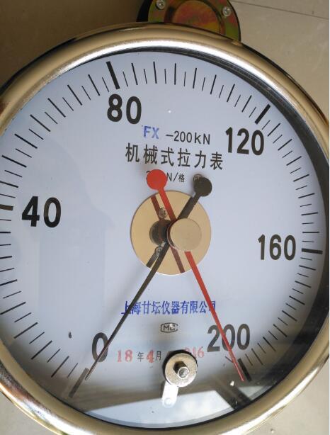 煤矿井下用50kn拉力表-高清双针机械式拉力计