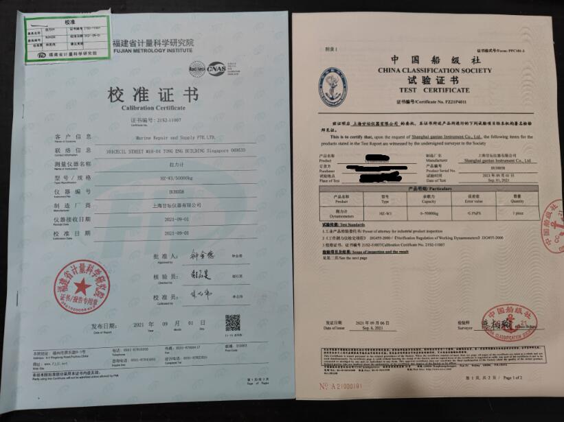 带CE证书拉力计.cap-20000kg测力仪器报告